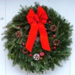 Wreath traditionally decorated