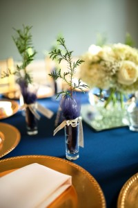 White cedars on wedding table